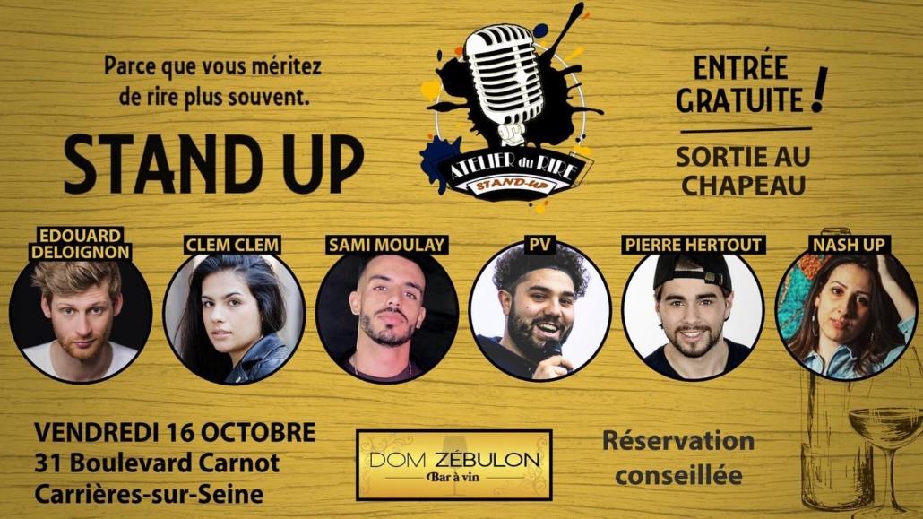 Dom Zebulon 78 événement stand up
